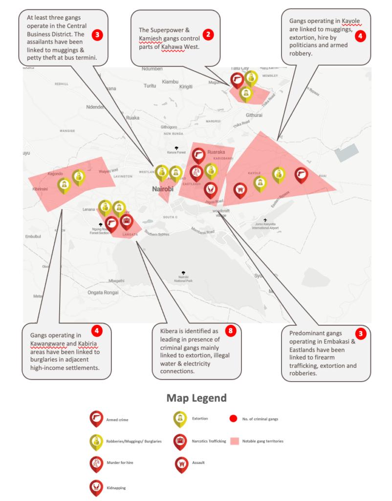 nairobi & mombasa criminal gangs graphic