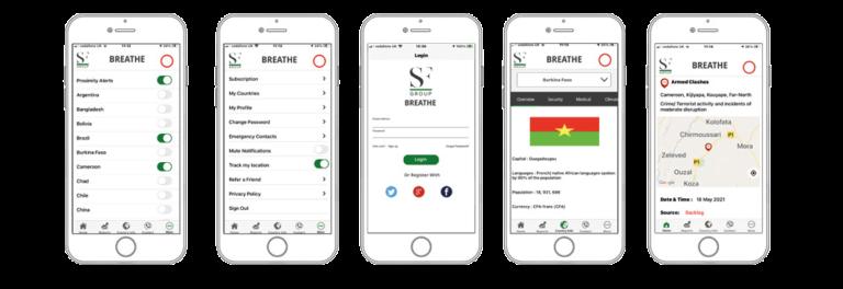 SF Breathe App Global Travel Security